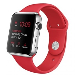 Apple Watch Sport 42mm Silver with Red Sport Band (MLLE2)