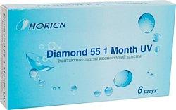 Horien Diamond 55 1 Month UV (от -1.0 до -6.0) 8.6mm