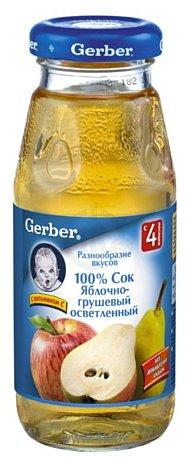 Фотографии Gerber Яблочно-грушевый (осветленный), 175 г