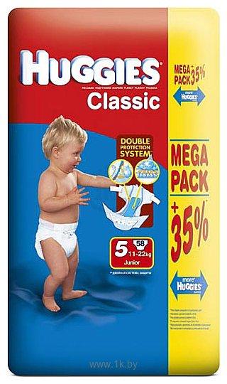 Фотографии Huggies CLASSIC 5 (11-22 кг) Mega Pack 58 шт