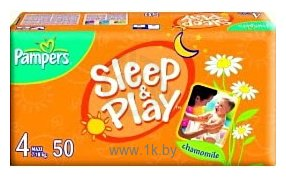 Фотографии Pampers Sleep & Play 4 Maxi (7-18 кг) 50 шт