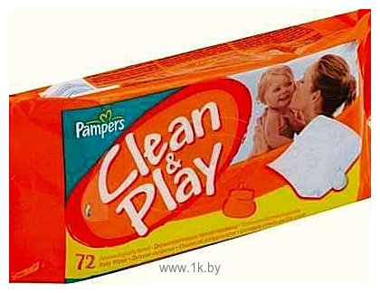 Фотографии Pampers Clean & Play, 72 шт