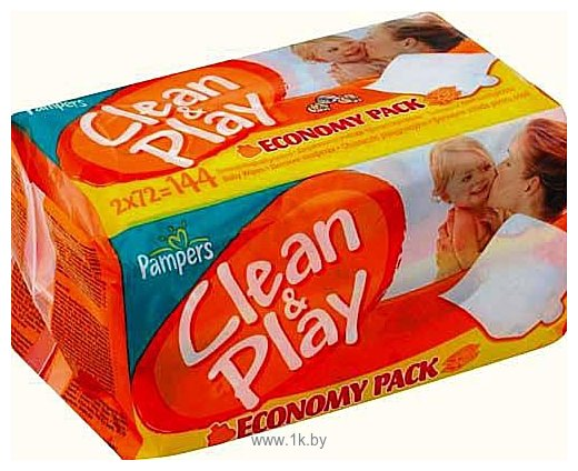 Фотографии Pampers Clean & Play, 144 шт