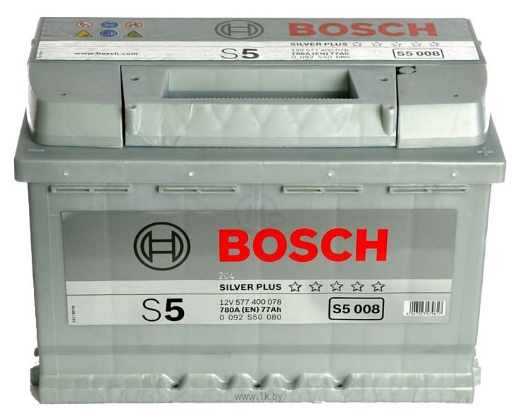 Фотографии Bosch S5 Silver Plus S5008 57740078 (77Ah)