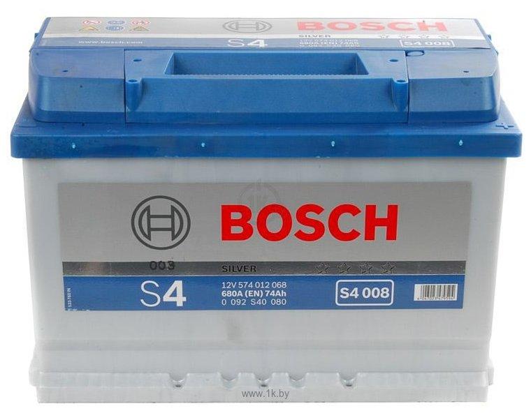 Фотографии Bosch S4 Silver S4008 574012068 (74Ah)