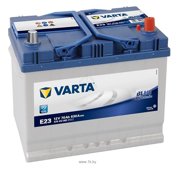 Фотографии VARTA BLUE Dynamic E23 570412063 (70Ah)