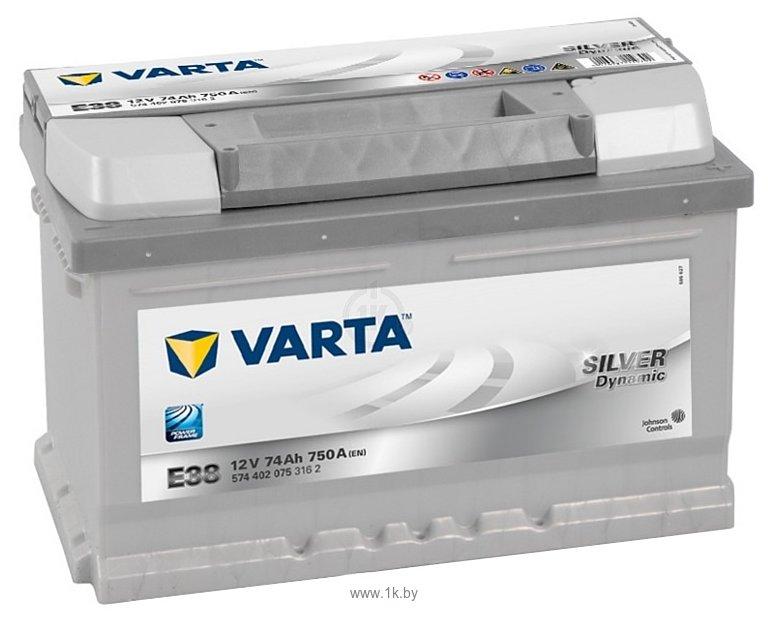 Фотографии VARTA SILVER Dynamic E38 574402075 (74Ah)