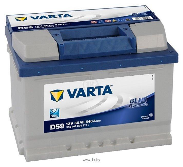 Фотографии VARTA BLUE Dynamic D59 560409054 (60Ah)
