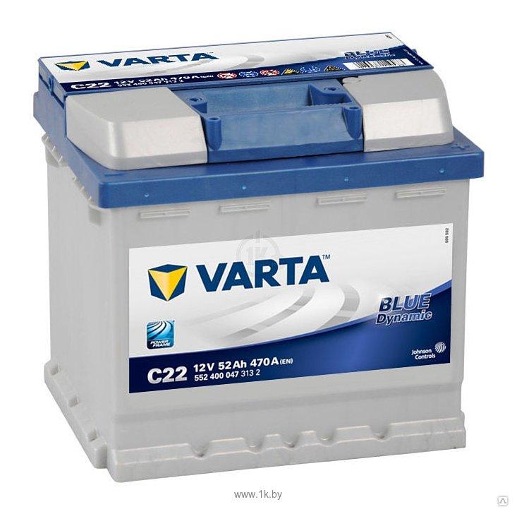 Фотографии VARTA BLUE Dynamic C22 552400047 (52Ah)