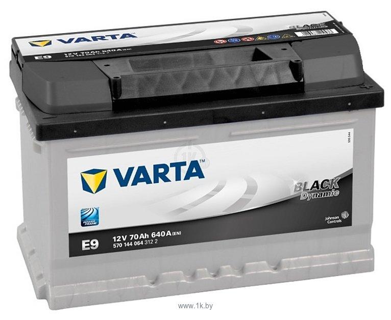 Фотографии VARTA BLACK Dynamic E9 570144064 (70Ah)