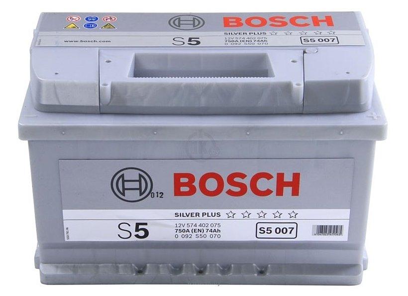 Фотографии Bosch S5 Silver Plus S5007 574402075 (74Ah)
