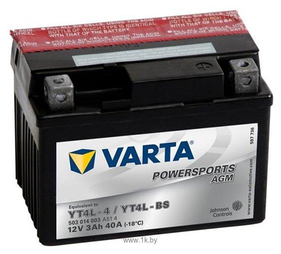 Фотографии VARTA FUNSTART AGM 503902004 (3Ah)