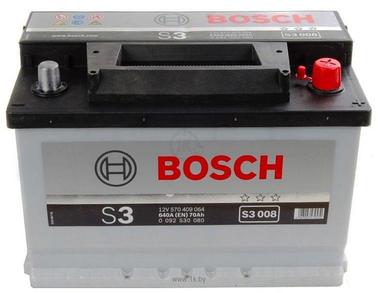 Фотографии Bosch S3 S3008 570409064 (70Ah)