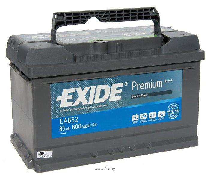 Фотографии Exide Premium 85 R (85Ah) EA852