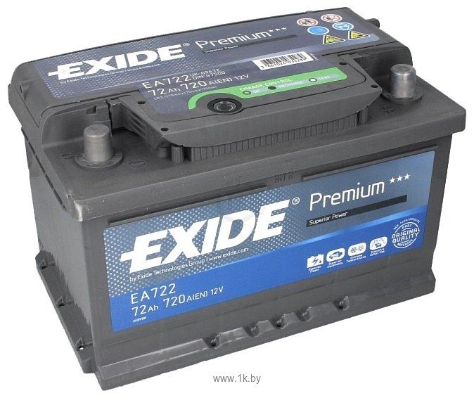 Фотографии Exide Premium 72 R (72Ah) EA722