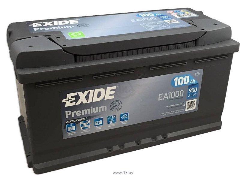 Фотографии Exide Premium 100 R (100Ah) EA1000
