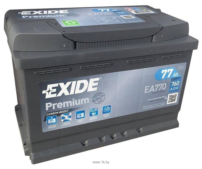 Фотографии Exide Premium 77 R (77Ah) EA770