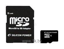 Фотографии Silicon Power micro SDHC Card 8GB Class 10 + SD adapter