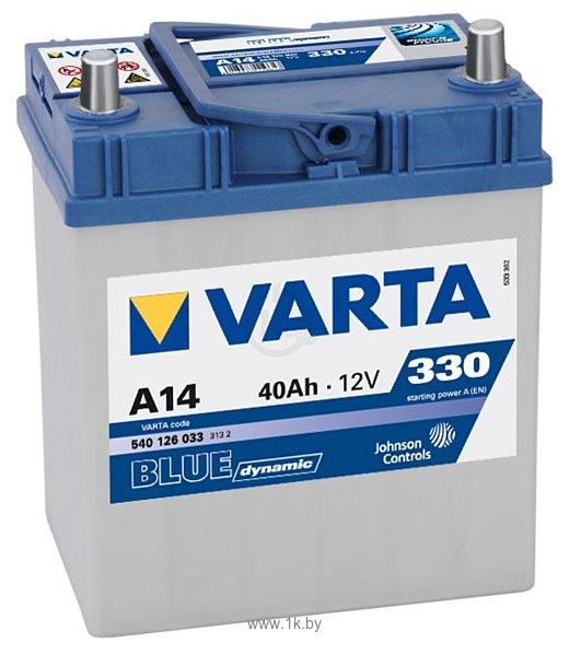 Фотографии VARTA BLUE Dynamic A14 540126033 (40Ah)
