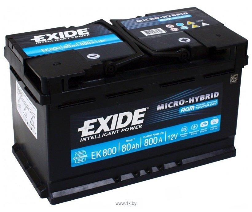 Фотографии Exide Micro-Hybrid AGM EK800 (80Ah)