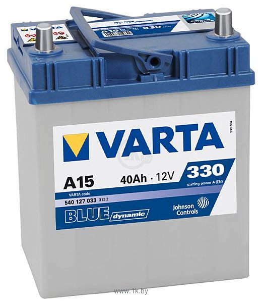 Фотографии VARTA BLUE Dynamic A15 540127033 (40Ah)