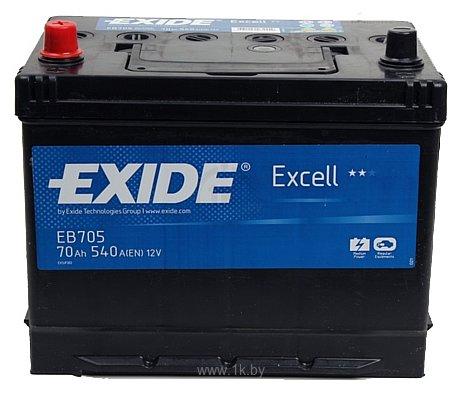 Фотографии Exide Excell EB705 L+ (70Ah)
