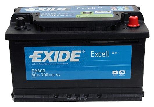 Фотографии Exide Excell EB800 R+ (80Ah)
