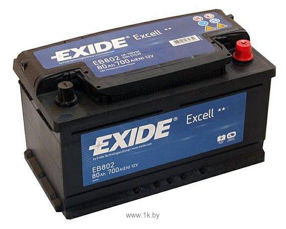 Фотографии Exide Excell EB802 R+ (80Ah)