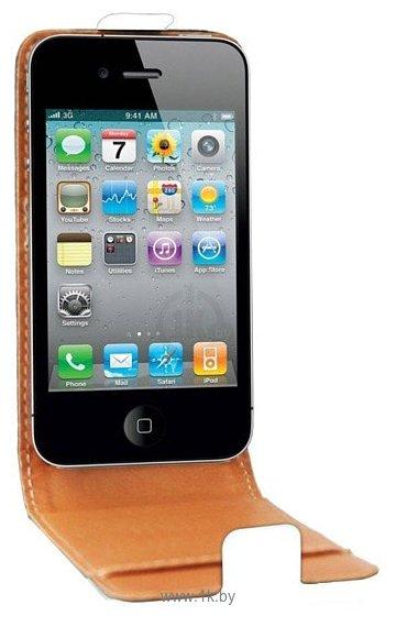 Фотографии Swiss Charger Leather Flip Case для Apple iPhone 4/4s (SCP10004W)