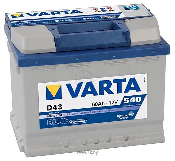 Фотографии VARTA BLUE Dynamic D43 560127054 (60Ah)