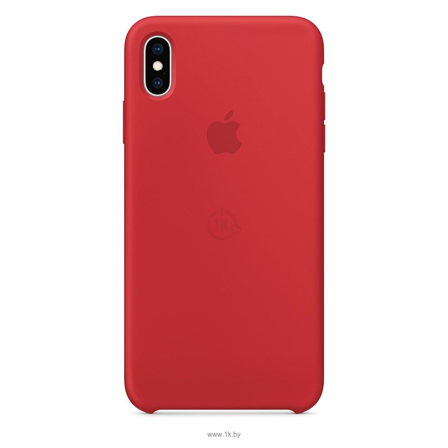 Фотографии Apple Silicone Case для iPhone XS Max Red