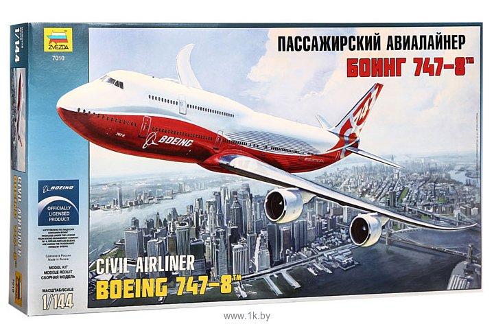 Фотографии Звезда Пассажирский авиалайнер Боинг 747-8