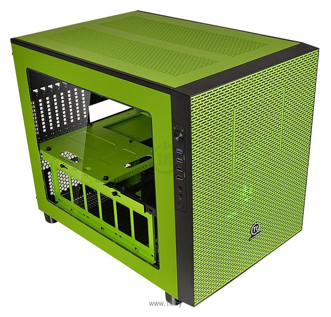 Фотографии Thermaltake Core X5 Riing Edition CA-1E8-00M8WN-00 Green