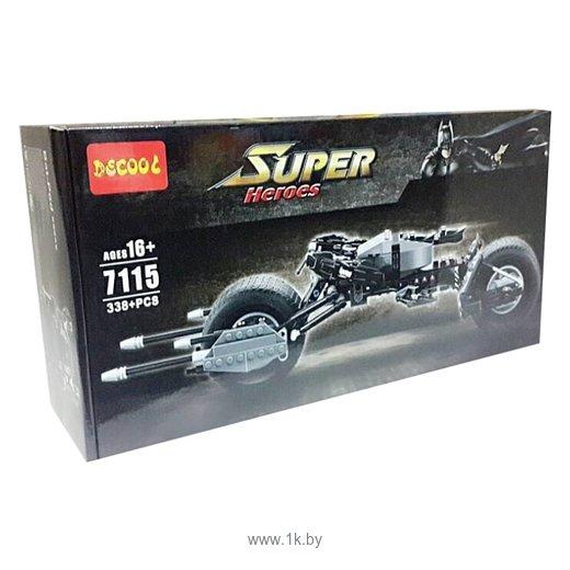 Фотографии Decool Super Heroes 7115 Мотоцикл Бэтмена