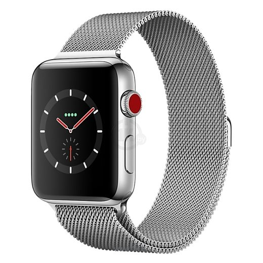 Фотографии Apple Watch Series 3 Cellular 38mm Stainless Steel Case with Milanese Loop