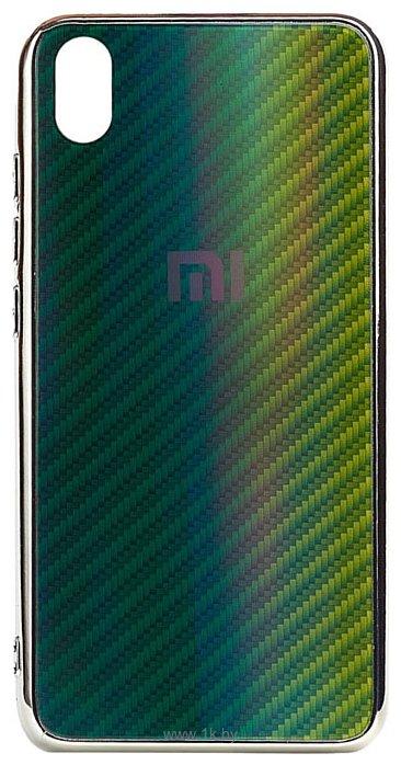 Фотографии EXPERTS Aurora Glass для Xiaomi Redmi 7A с LOGO (зеленый)