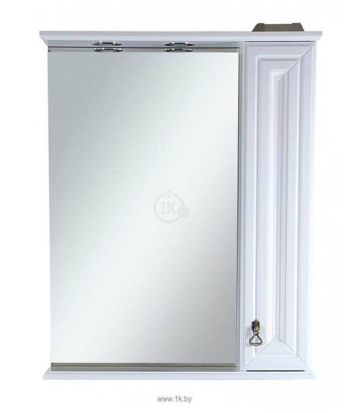 Фотографии Misty Шкаф с зеркалом Лувр 60 R (Белый)