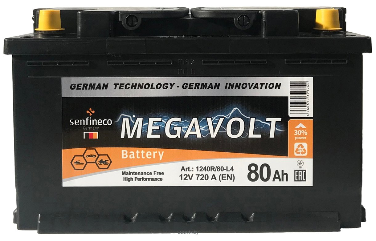 Фотографии Megavolt 12V +R (80Ah)