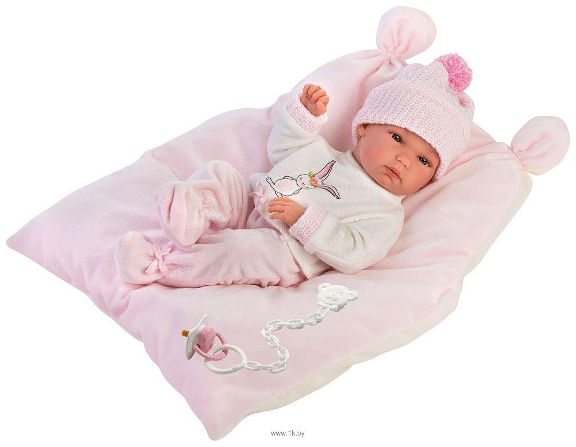 Фотографии Llorens Малышка с розовой подушкой 63556