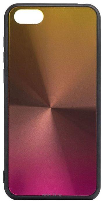 Фотографии EXPERTS SHINY TPU CASE для Huawei Y5 Prime (2018)/Honor 7A (розово-золотой)