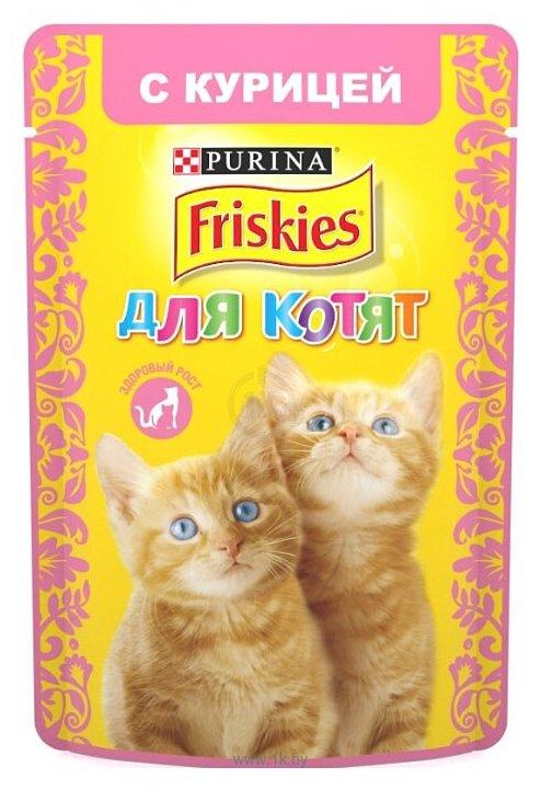 Фотографии Friskies (0.085 кг) 1 шт. Для котят с курицей в подливе