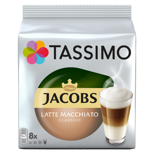 Фотографии Tassimo Jacobs Latte Macchiato Classico 16 шт