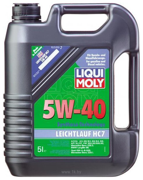 Фотографии Liqui Moly Leichtlauf HC7 5W-40 5л