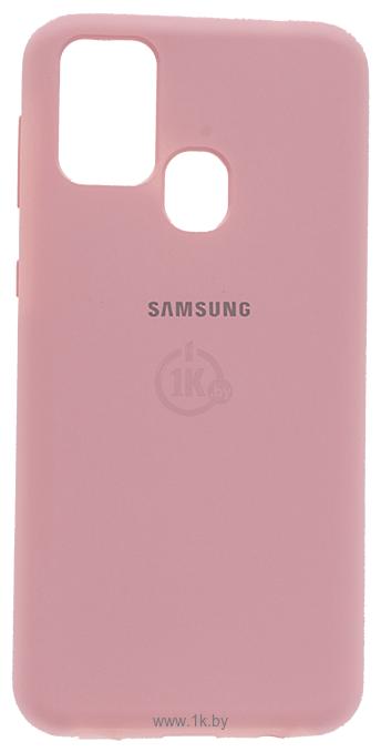 Фотографии EXPERTS SOFT-TOUCH case для Samsung Galaxy M21 с LOGO (розовый)