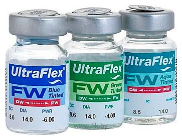 Фотографии CooperVision Ultra Flex Tint -6 дптр 8.6 mm (голубой)