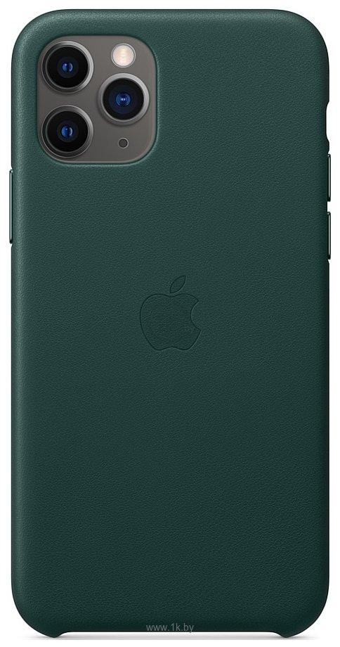 Фотографии Apple Leather Case для iPhone 11 Pro (зеленый лес)