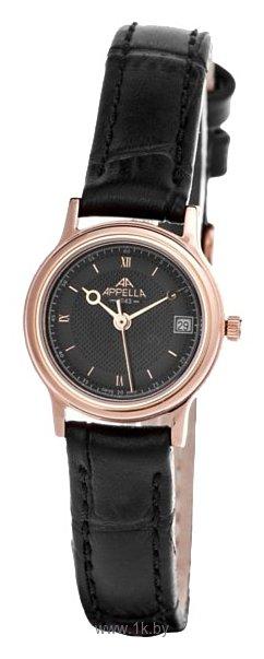 Женские наручные швейцарские часы в коллекции Leather Line Round Appella 4288-4014 купить в интернет-магазине, цена