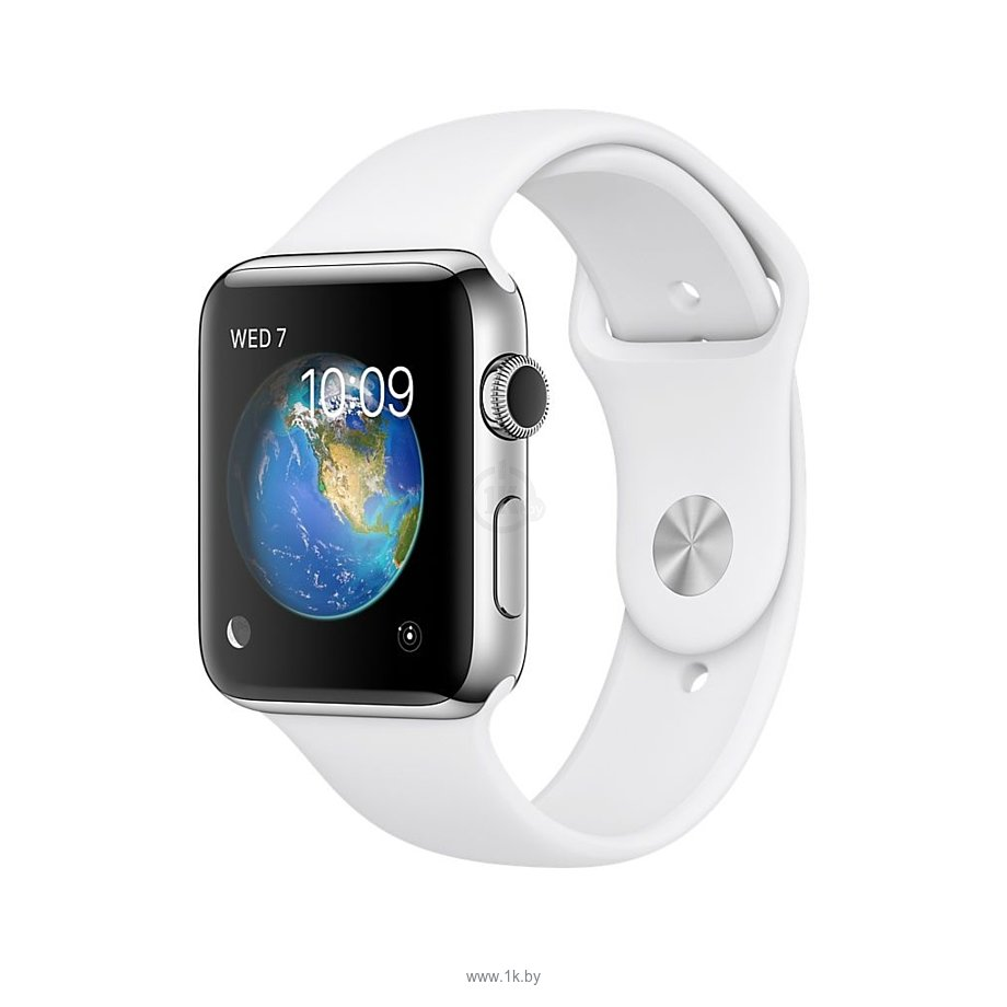 Фотографии Apple Watch Series 2 42mm Stainless Steel with White Sport (MNPR2)