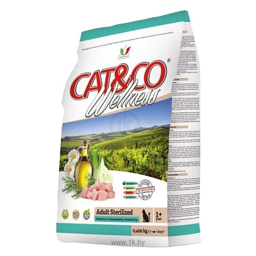 Фотографии Adragna (10 кг) Cat&Co Wellness Adult Sterilized Chicken and Barley