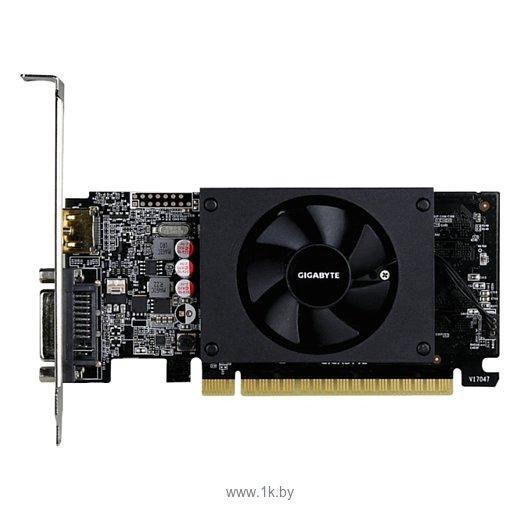 Фотографии GIGABYTE GeForce GT 710 954Mhz PCI-E 2.0 2048Mb 5010Mhz 64 bit DVI HDMI HDCP